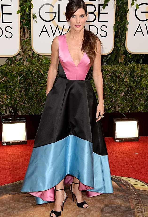 Sandra Bullock 2014 Golden Globes Prabal Gurung