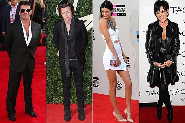 Simon Cowell Harry Styles Kendall Jenner Kris Jenner