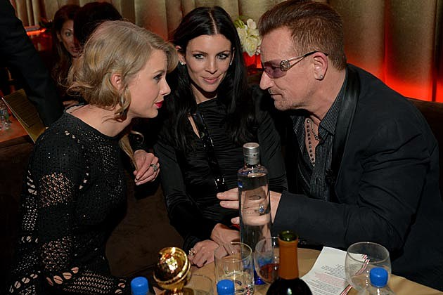 Taylor Swift Bono 2014 Golden Globes After Party