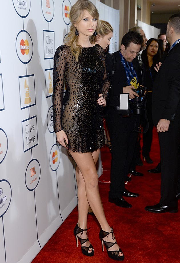 Taylor Swift Zuhair Murad Clive Davis Grammy Party
