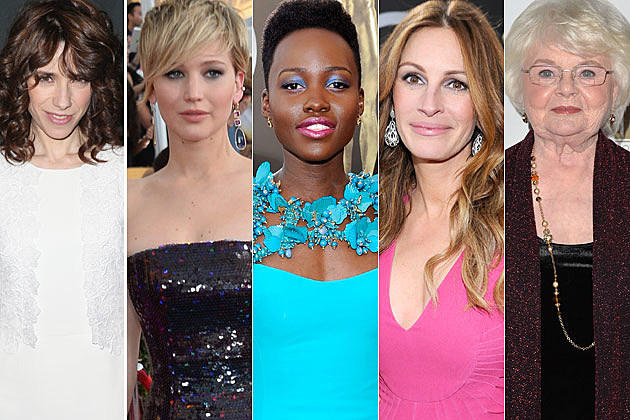 Sally Hawkins Jennifer Lawrence Lupita Nyong'o Julia Roberts June Squibb