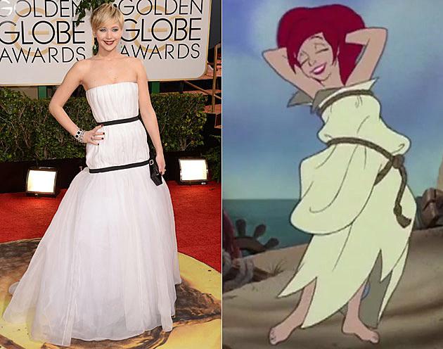 Jennifer Lawrence + Ariel From 'The Little Mermaid ...