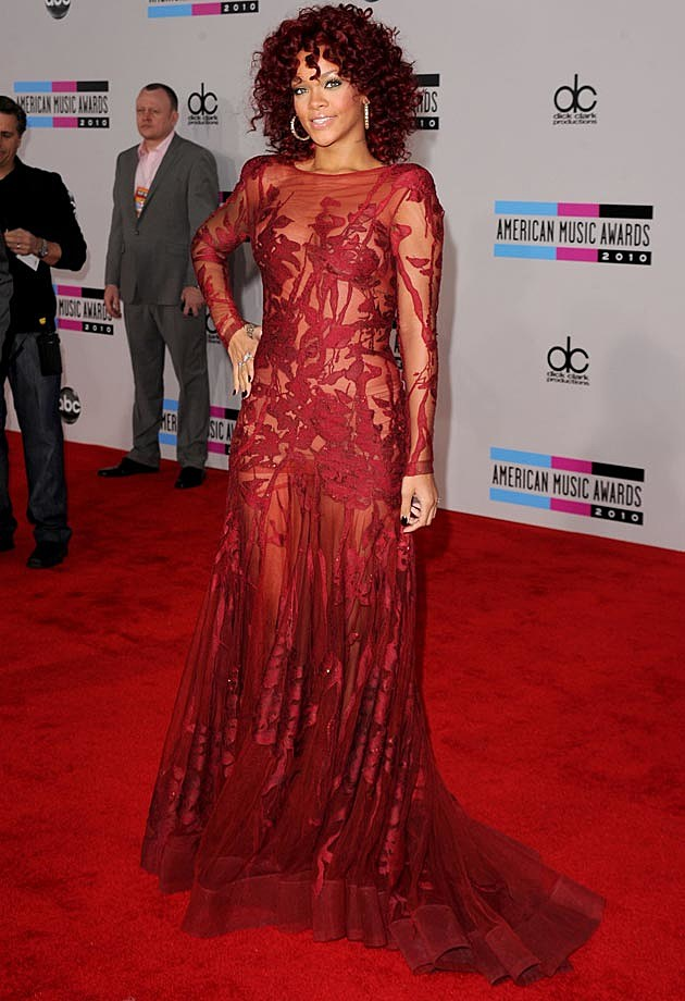 Rihanna Red Carpet 2010 Elie Saab