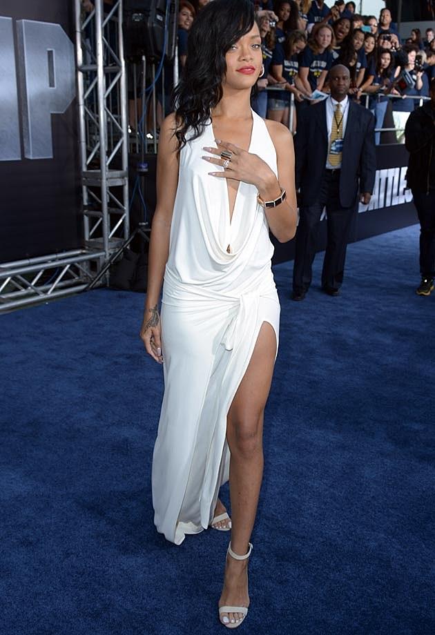 Rihanna Red Carpet White AdamSelman 12
