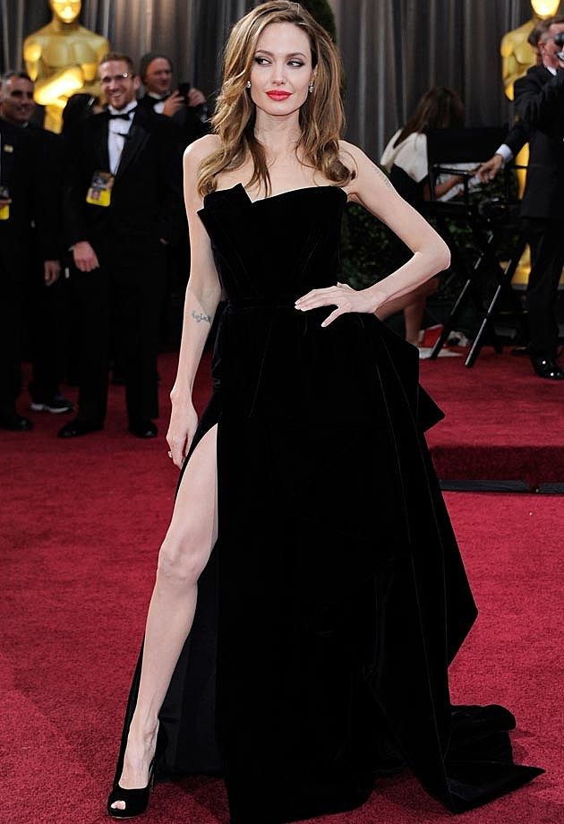 Angelina Jolie 2012 Oscars Atelier Versace