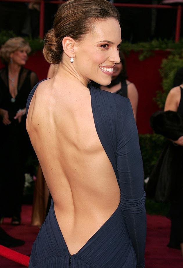 Hilary Swank 2005 Oscars Guy Laroche