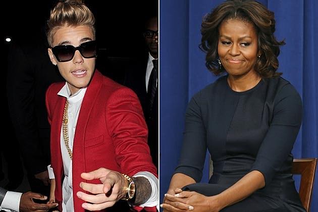 Justin Bieber Michelle Obama