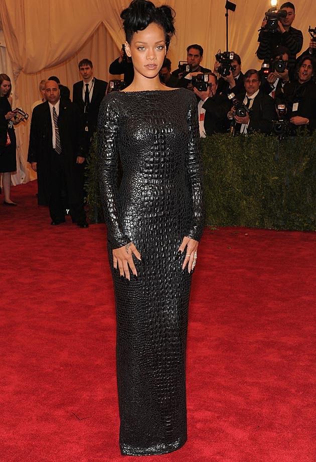 Rihanna Croc Tom Ford Red Carpet 2012 Met