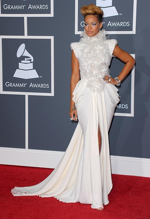 Rihanna Elie Saab 2010 Red Carpet