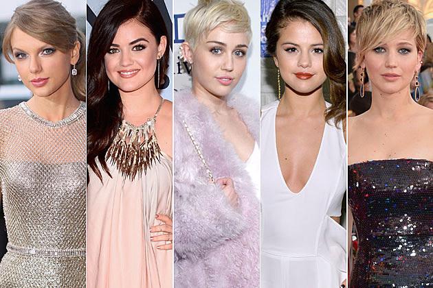 Taylor Swift Lucy Hale Miley Cyrus Selena Gomez Jennifer Lawrence