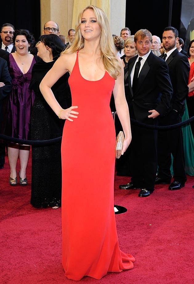 Jennifer Lawrence 2011 Oscars Calvin Klein