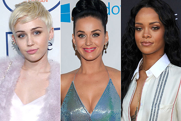 Miley Cyrus Katy Perry Rihanna