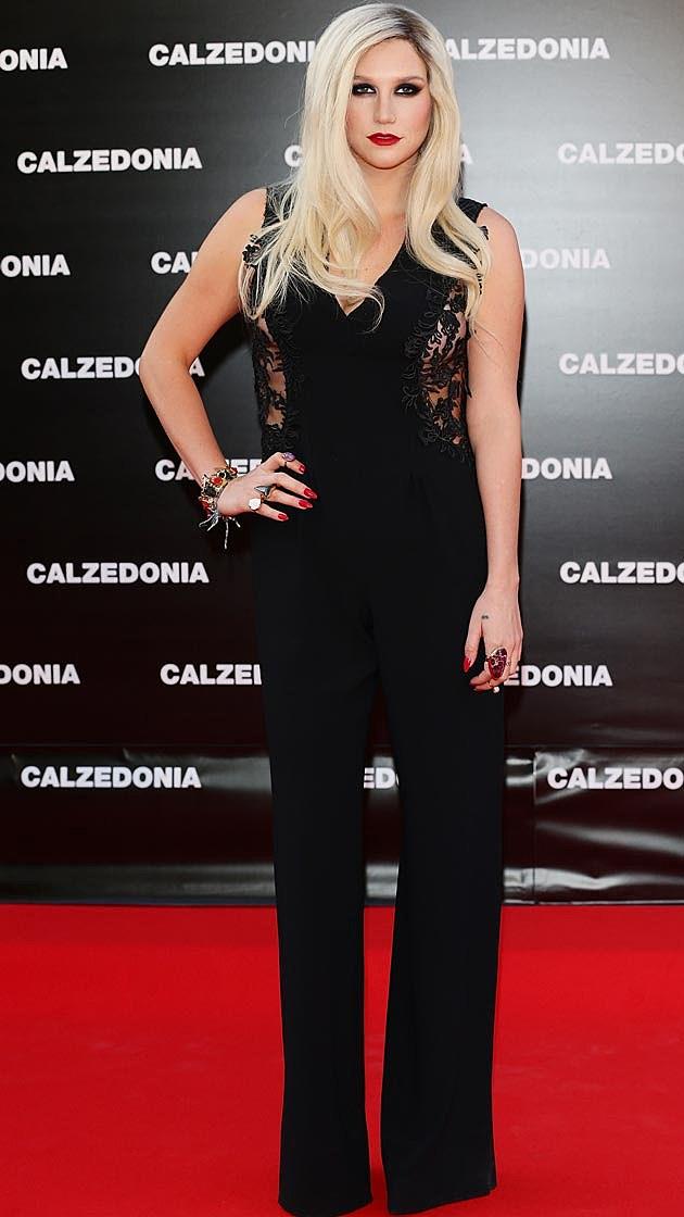 Kesha Black Pantsuit