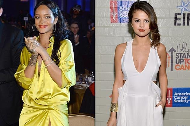 Rihanna Selena Gomez Eating