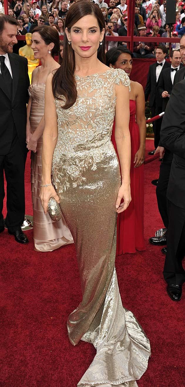 Sandra Bullock 2010 Oscars Marchesa