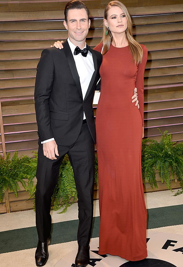 Adam Levine Behati Prinsloo 2014 Oscar Party Vanity Fair