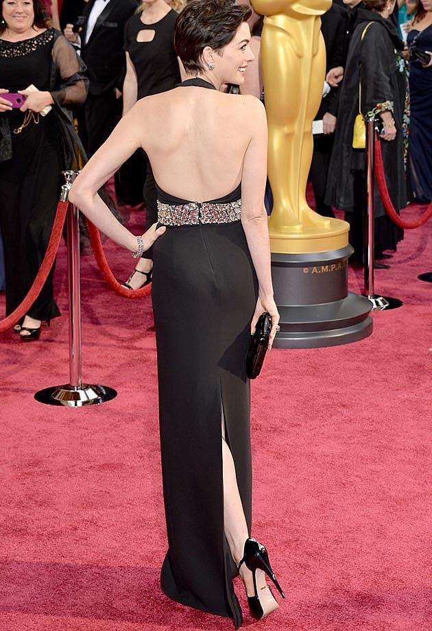 Anne Hathaway 2014 Oscars Gucci