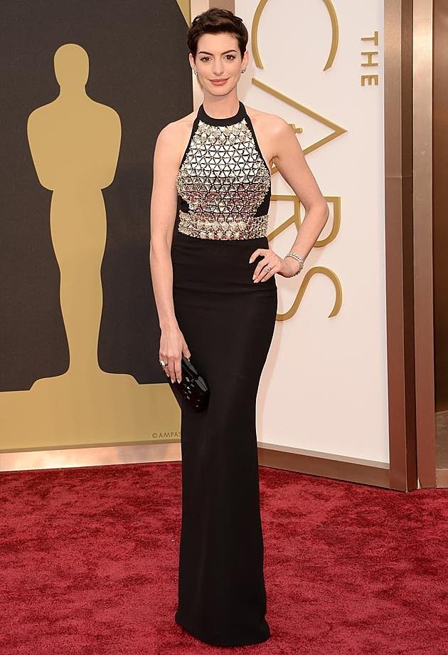 Anne Hathaway Gucci 2014 Oscars