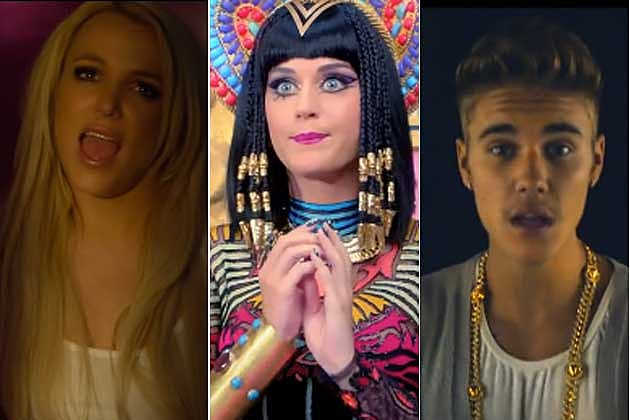 Britney Spears Katy Perry Justin Bieber