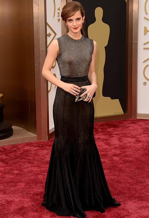 Emma Watson Vera Wang 2014 Oscars