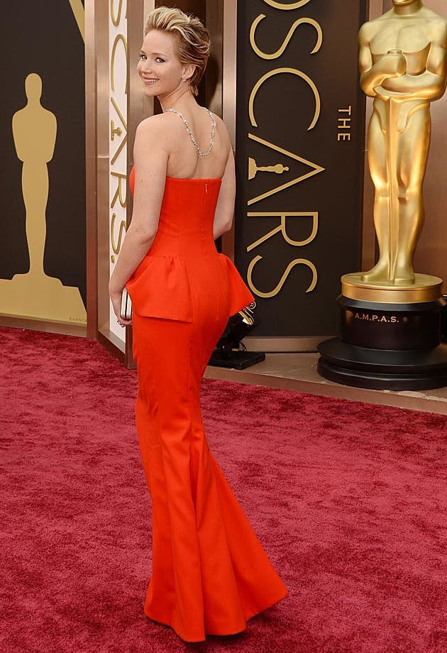 Jennifer Lawrence 2014 Oscars Dior