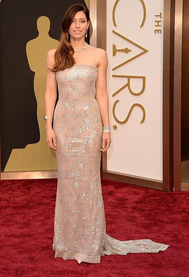 Jessica Biel Chanel Couture 2014 Oscars