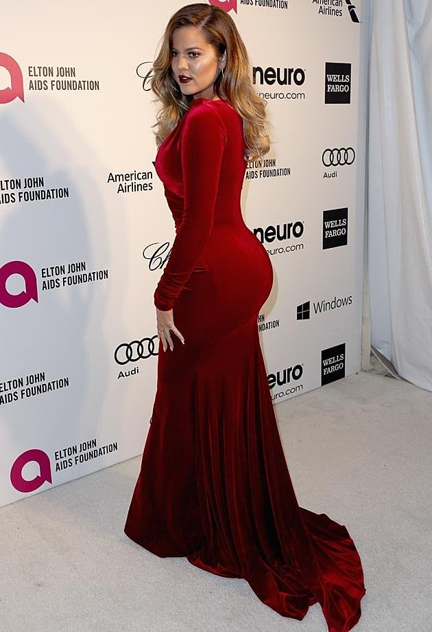 Khloe Kardashian 2014 Elton John Oscar Party