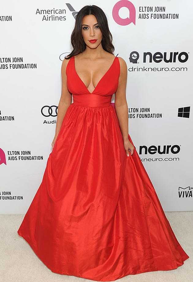 Kim Kardashian 2014 Elton John Oscar Party