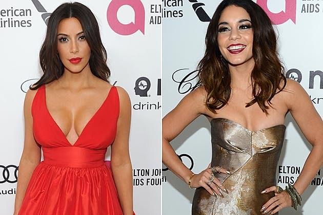 Kim Kardashian Vanessa Hudgens Elton John 2014 Oscar Party