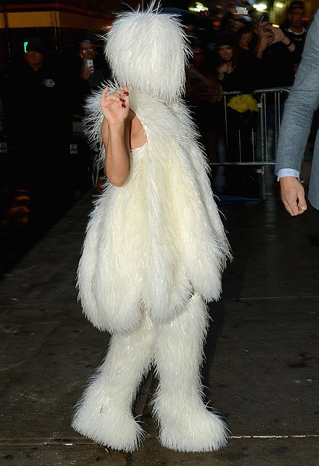 Lady Gaga White Snowman Outfit