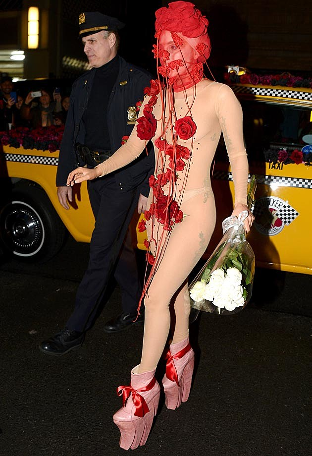Lady Gaga Rose Leotard