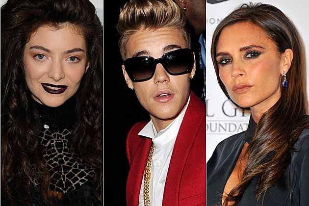 Lorde Justin Bieber Victoria Beckham
