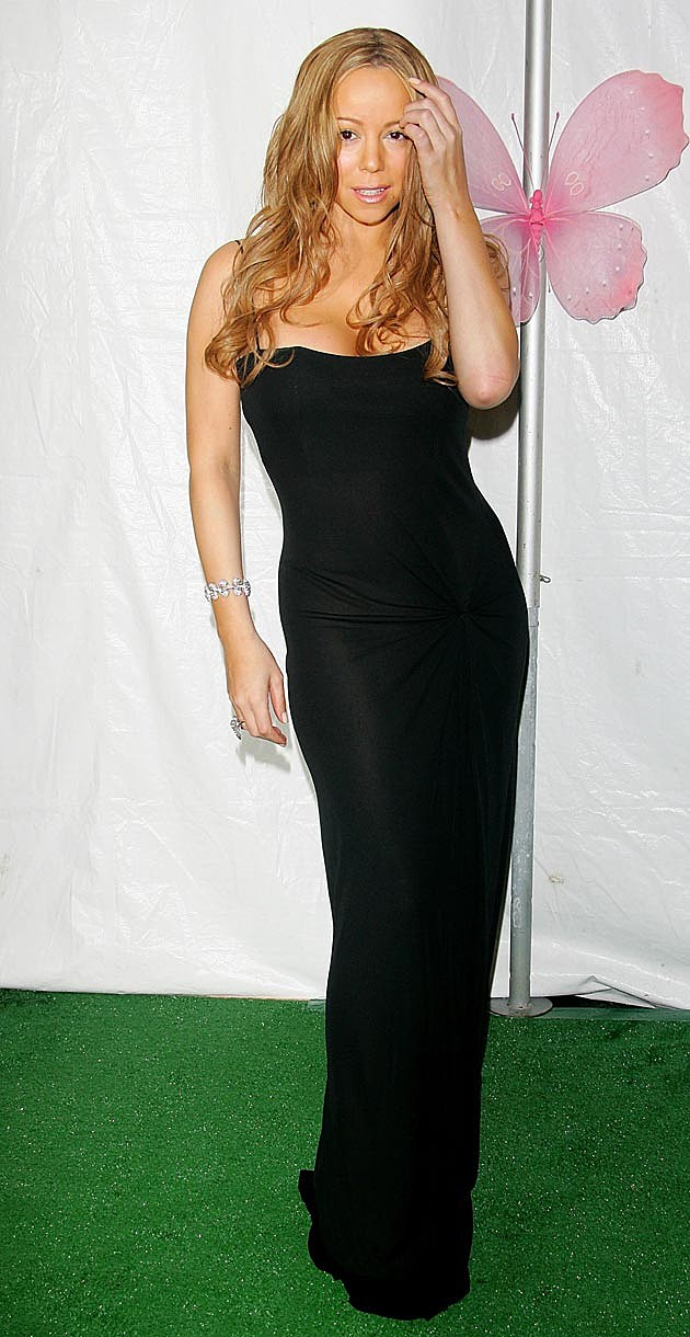 Mariah Carey Black Gown 2006
