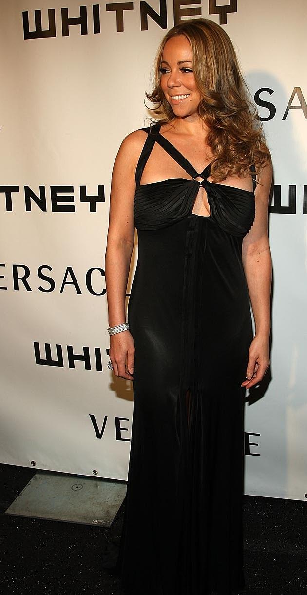 Mariah Carey Black Dress 2008