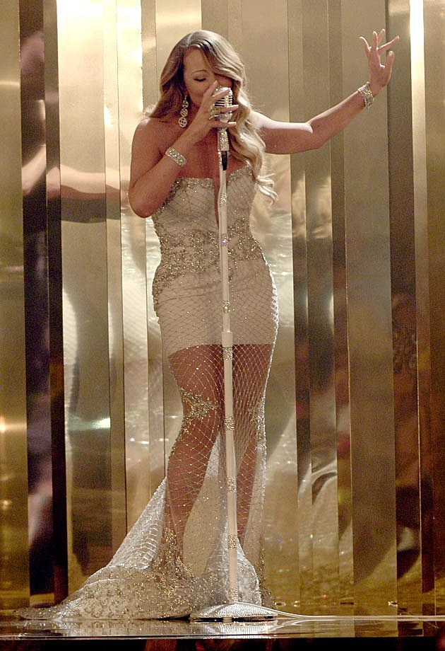 Mariah Carey 2013 White Dress