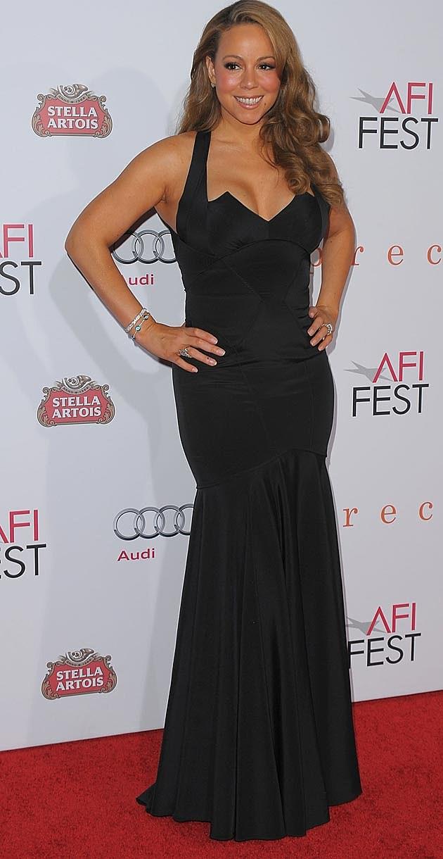 Mariah Carey Black Dress 2010