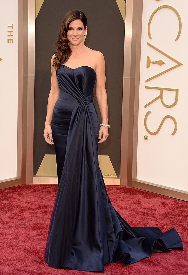 Sandra Bullock 2014 Oscars Alexander McQueen