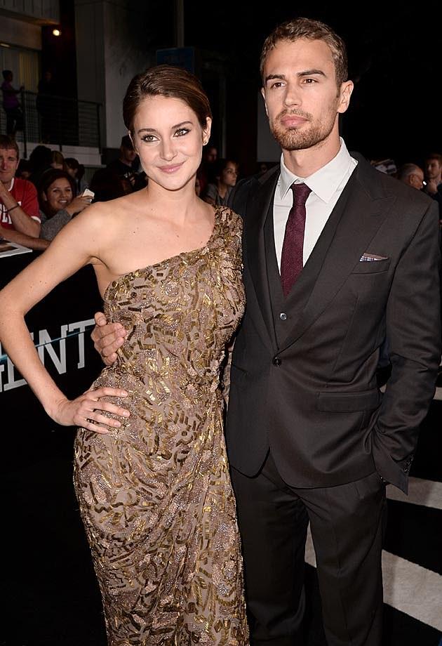 Shailene Woodley Theo James Divergent Premiere