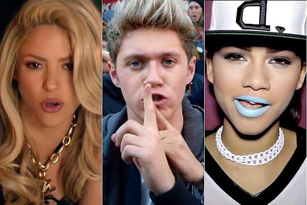 Shakira One Direction Zendaya