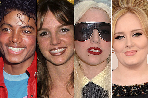 Michael Jackson Britney Spears Lady Gaga Adele