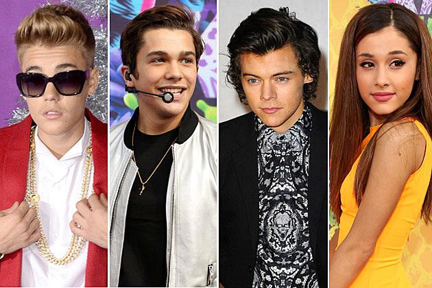 Justin Bieber Austin Mahone Harry Styles Ariana Grande
