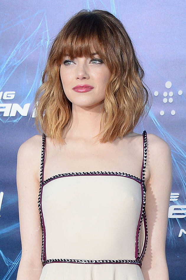 Emma Stone Gets Bangs + Goes Ombre [PHOTOS]