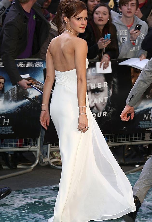Emma atson white dress