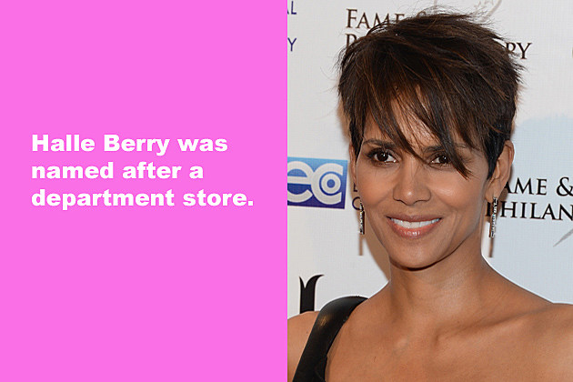 Halle Berry was named after a department store.