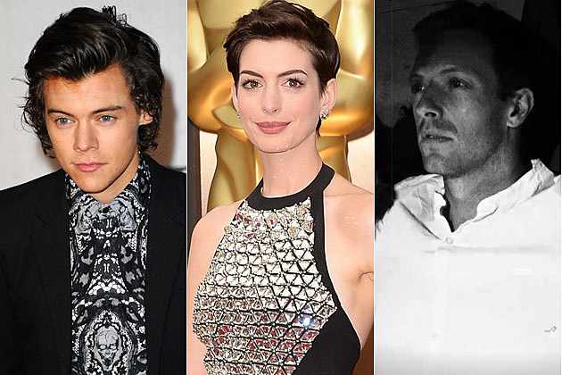 Harry Styles Anne Hathaway Chris Martin