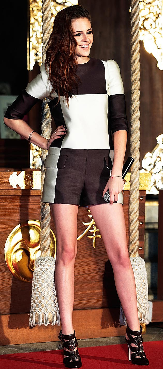 Kristen Stewart Colorblock