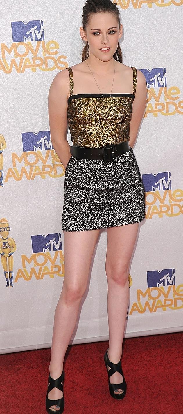 Kristen Stewart Mixed Metallics