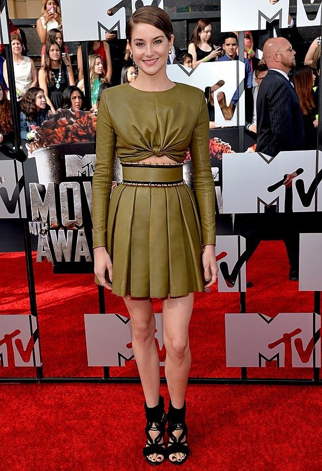 Shailene Woodley 2014 MTV Movie Awards Balmain