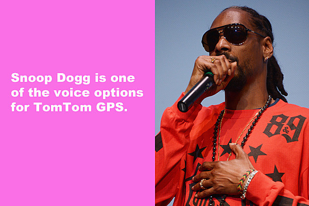 Snoop Dogg is one of the voice options for TomTom GPS.
