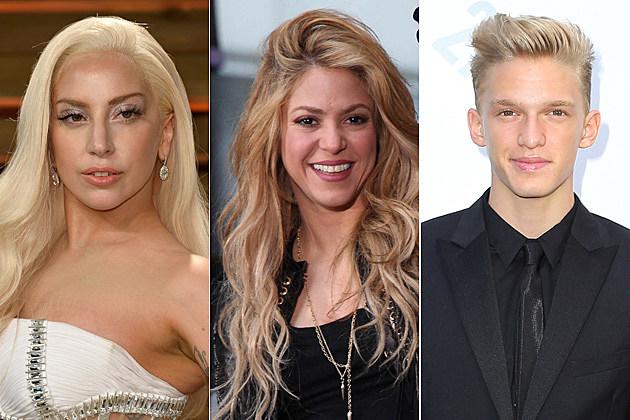 Lady Gaga, Shakira, Cody Simpson